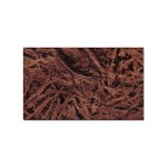 Leather Look & Skins Bark Brown Sticker Rectangular (100 pack)