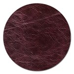 Leather Look & Skins  Capri Cranberry Magnet 5  (Round)