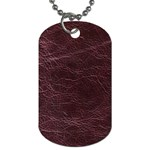 Leather Look & Skins  Capri Cranberry Dog Tag (One Side)