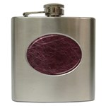 Leather Look & Skins  Capri Cranberry Hip Flask (6 oz)