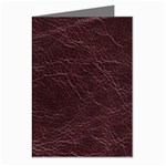 Leather Look & Skins  Capri Cranberry Greeting Card