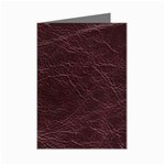 Leather Look & Skins  Capri Cranberry Mini Greeting Card