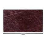 Leather Look & Skins  Capri Cranberry Business Card Holder