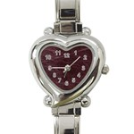 Leather Look & Skins  Capri Cranberry Heart Italian Charm Watch