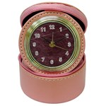 Leather Look & Skins  Capri Cranberry Jewelry Case Clock