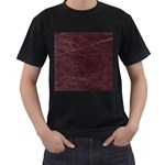 Leather Look & Skins  Capri Cranberry Black T-Shirt (Two Sides)