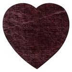 Leather Look & Skins  Capri Cranberry Jigsaw Puzzle (Heart)