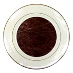 Leather Look & Skins  Capri Cranberry Porcelain Plate
