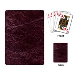 Leather Look & Skins  Capri Cranberry Playing Cards Single Design