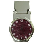 Leather Look & Skins  Capri Cranberry Money Clip Watch