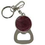 Leather Look & Skins  Capri Cranberry Bottle Opener Key Chain