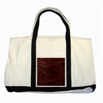 Leather Look & Skins  Capri Cranberry Two Tone Tote Bag