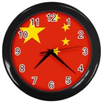 Chinese Flag Wall Clock (Black)