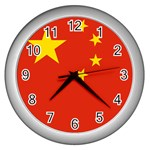 Chinese Flag Wall Clock (Silver)