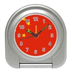 Chinese Flag Travel Alarm Clock