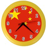 Chinese Flag Color Wall Clock