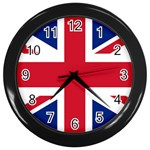 British Flag Wall Clock (Black)