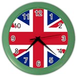 British Flag Color Wall Clock