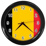Belgian Flag Wall Clock (Black)
