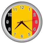 Belgian Flag Wall Clock (Silver)