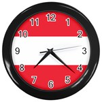 Austrian Flag Wall Clock (Black)