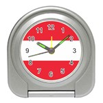 Austrian Flag Travel Alarm Clock