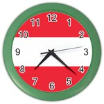 Austrian Flag Color Wall Clock