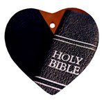 Holy Bible Christian Religious Ornament (Heart)