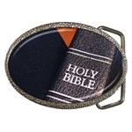 Holy Bible Christian Religious Belt Buckle