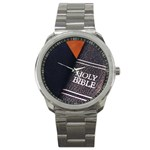 Holy Bible Christian Religious Sport Metal Watch
