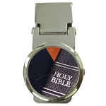 Holy Bible Christian Religious Money Clip Watch