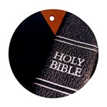 Holy Bible Christian Religious Round Ornament (Two Sides)
