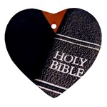 Holy Bible Christian Religious Heart Ornament (Two Sides)