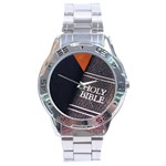 Holy Bible Christian Religious Stainless Steel Analogue Men's Watch